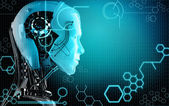 Fundo de robô de computador — Foto Stock
