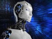 компьютер робот фон — Стоковое фото