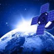 Blue planet earth and satellite in space. — Stock Photo #25338763