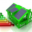 Stock Photo: House energy saving concept