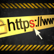 Https protected web page with grunge background — Stock Photo