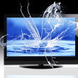 Foto de Stock  : Water splashing from screen