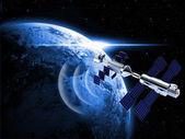 Satelity w przestrzeni — Zdjęcie stockowe