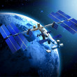 Satellite space station — Stock Photo