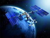 Estação espacial de satélite — Fotografia Stock