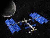 Satellite space station — Stock Photo