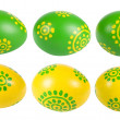 Foto Stock: Colored Easter eggs