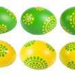 图库照片: Colored Easter eggs