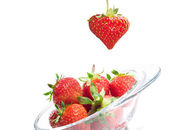 Strawberry Valentine's heart — Stock Photo