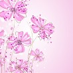 Artistic pastel flowers — Stock Vector