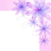 Sfondo vettoriale con fiore — Vettoriale Stock