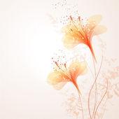 Vector fondo con flores naranjas — Vector de stock