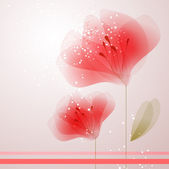 Vector background with red flower — Stock Vector