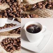 Kaffe collage — Stockfoto