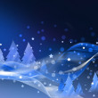 Stock Photo: Abstract blue Christmas card