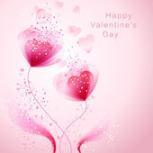 Vector valentine background with heart — Vecteur