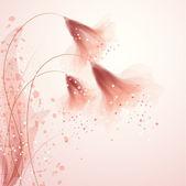 διάνυσμα φόντο με λουλούδια — Διανυσματικό Αρχείο