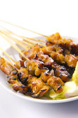 Famous food, malaysian satay — Stock Photo