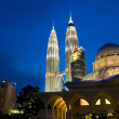Royalty-Free Stock Photo: Klcc famous landmark in malaysia