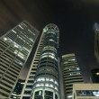 Singapore night business district — Stockfoto #12089304