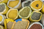 Spices for sale in indian market — Stock Photo
