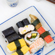 Stock Photo: Varieties of sushies