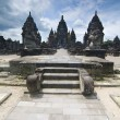 Hindu temple Prambanan. Indonesia, Java, Yogyakarta with dramati — Stock Photo
