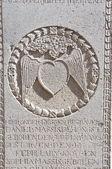 Portuguese A famosa tombstone in melaka — Stock Photo
