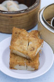 Fried yam cake dim sum — Foto Stock