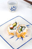 Sushi on a plate — Stock Photo