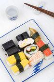 Varieties of sushies — Stock Photo