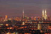 Kuala lumpur in the night view — Stock Photo