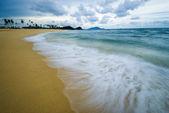 Esposizione lunga spiaggia — Foto Stock