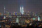 Kuala lumpur night view in malaysia — Stock Photo