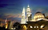 Kuala lumpur urban night view — Stock Photo