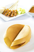 Asian sweet pancake, apam balik — Stock Photo