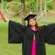 Indian female graduate — Stock Photo