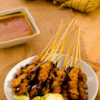 Satay malay hari raya foods ,focus on satay — Stock Photo