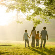 Stock Photo: A family walking in the park