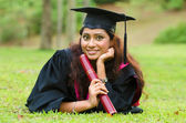 Indian female graduate — Stock Photo