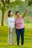 Happy asian mother and her daughter — Stock Photo