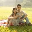 Asian romantic couple — Stock Photo