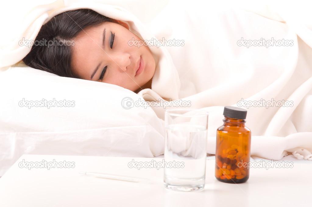 Asian girls being sick