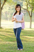 Asian female college girl — Stock Photo