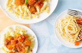 Tasty looking spaghetti bolognese — Stock Photo