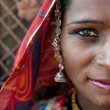 Portrait of a India Rajasthani — Stock Photo