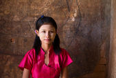 Casual myanmar girl — Stock Photo