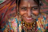 Portrait de femme du rajasthan inde — Photo
