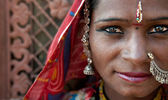 Portrait of a India Rajasthani — Stockfoto