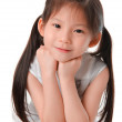 Close up photo of asian girl — Stock Photo
